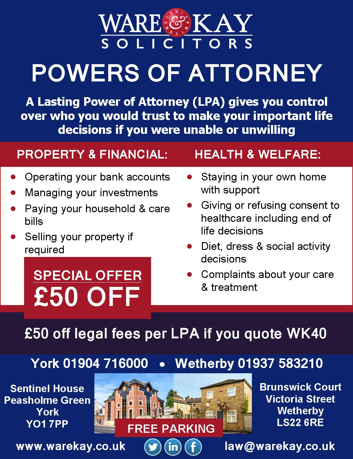 power of attorney offer