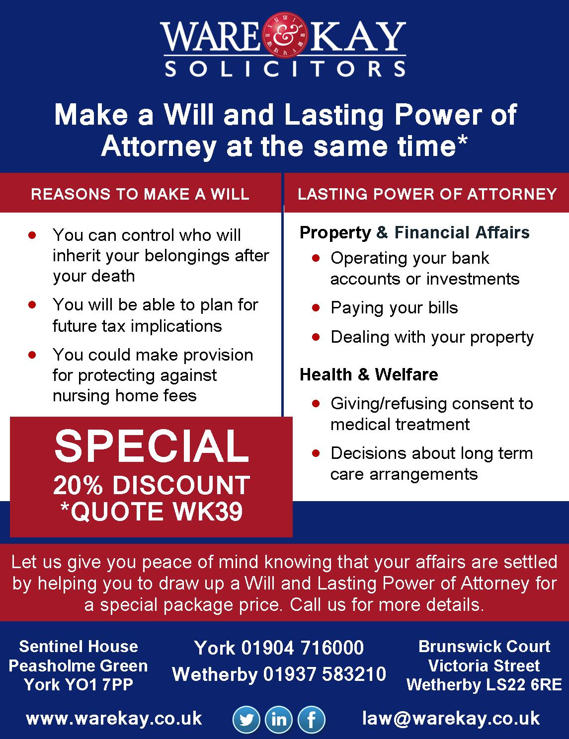 will power of attorney offer